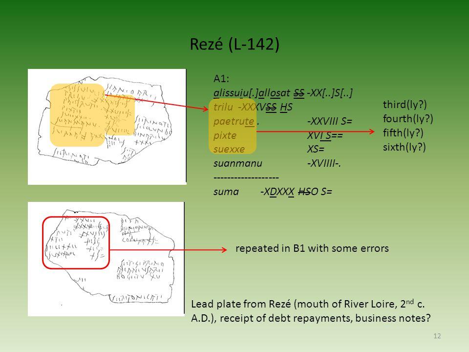 Rezé (L-142) A1: alissuiu[.]allosat SS -XX[..]S[..] trilu -XXXVSS HS